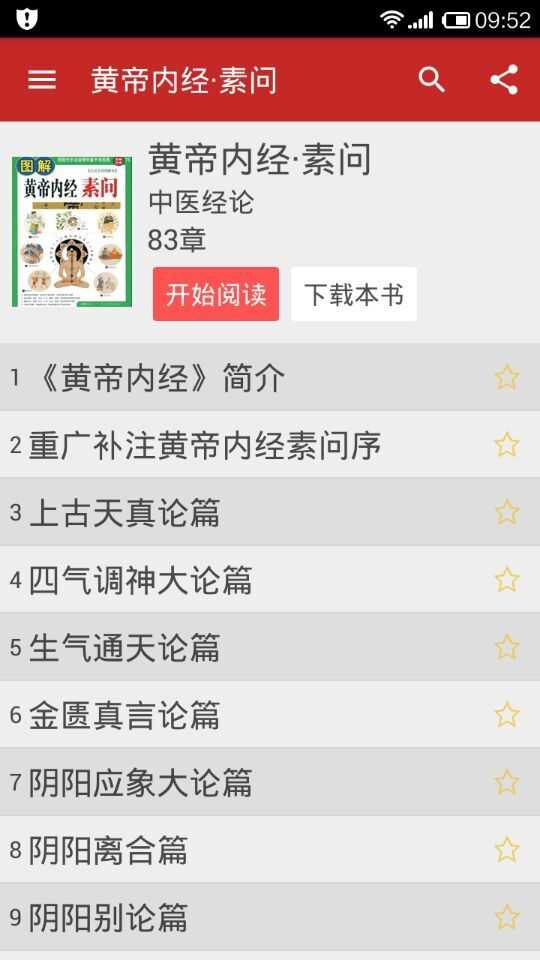 中医宝典App中医书籍目录